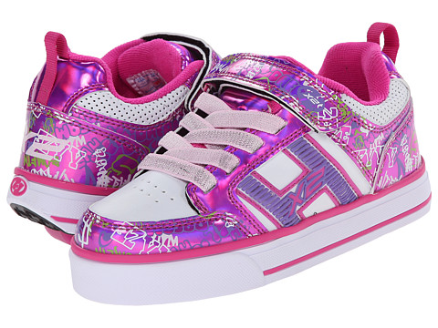 Heelys - Bolt Plus X2 Lighted (Little Kid/Big Kid/Adult) (Fuchsia/White/Grafitti) Girl
