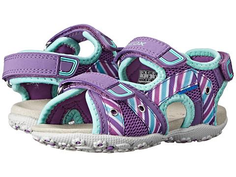 Geox Kids - Jr Roxanne 32 (Toddler/Little Kid) (Purple/Turquoise) Girl