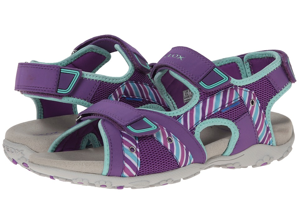 Geox Kids - Jr Roxanne 32 (Big Kid) (Purple/Turquoise) Girl's Shoes