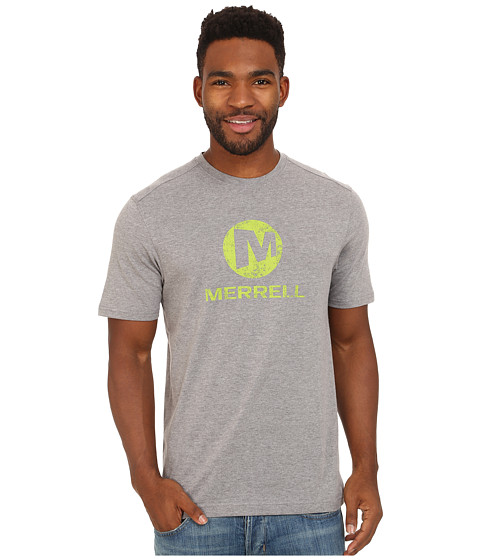 Merrell - Vintage Stacked Logo Tee (Manganese Heather) Men's T Shirt
