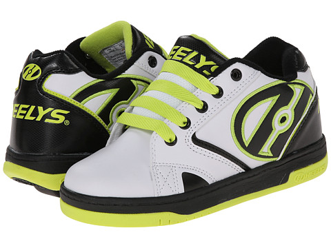 Heelys - Propel 2.0 (Little Kid/Big Kid/Adult) (White/Black/Acid Green) Boys Shoes