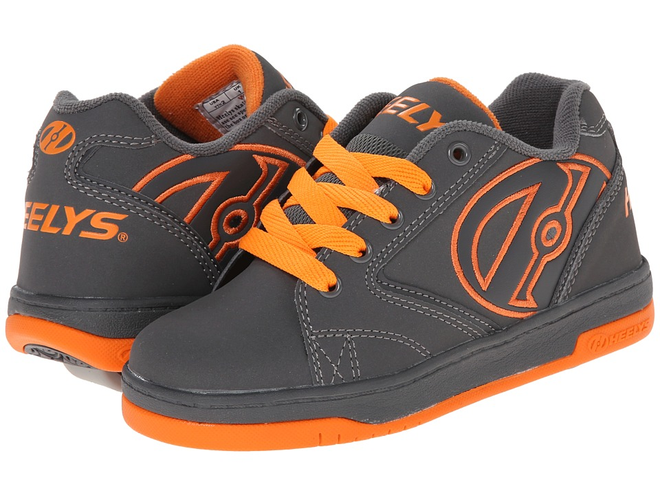 Heelys - Propel 2.0 (Little Kid/Big Kid/Adult) (Grey/Grey/Orange) Boys Shoes