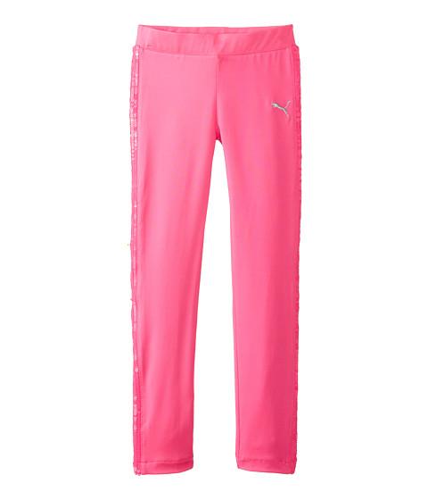Puma Kids - Sequined Tuxedo Legging (Big Kids) (Neon Pink) Girl