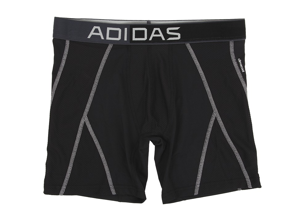adidas - climacool Mesh Boxer Brief (Black/Light Onix) Men's Underwear
