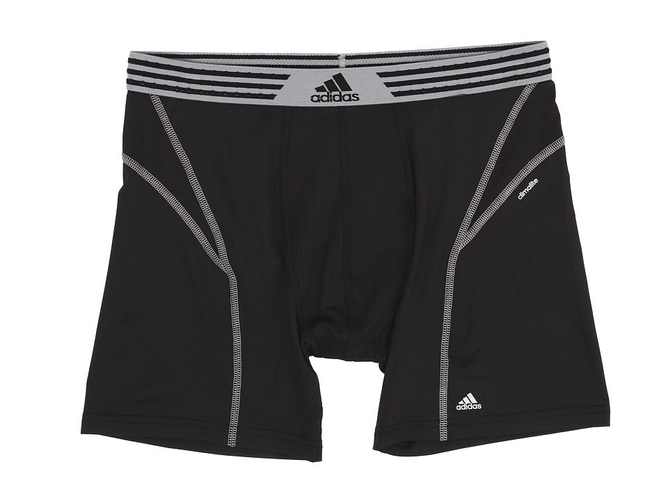 adidas - climalite Flex Boxer Brief (Black/Tech Grey) Men's Underwear