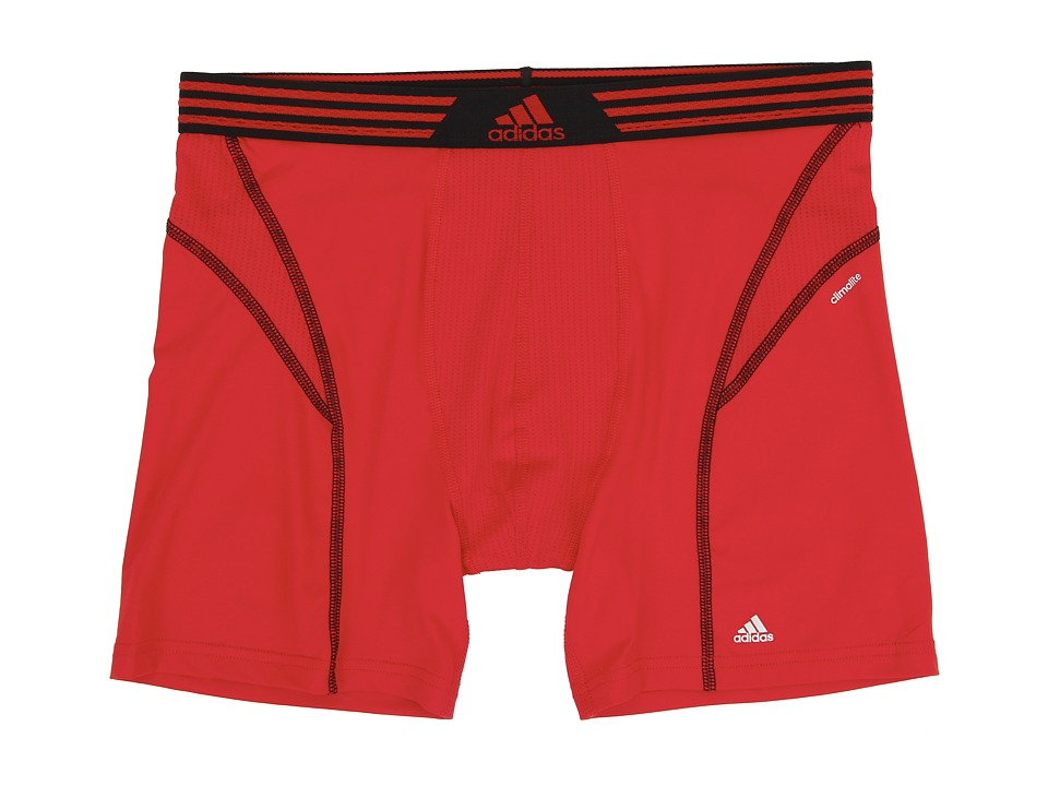 adidas - climalite Flex Boxer Brief (SLD Red/Black) Men's Underwear