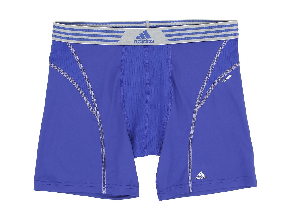 adidas - climalite Flex Boxer Brief (Bold Blue/Tech Grey) Men's Underwear