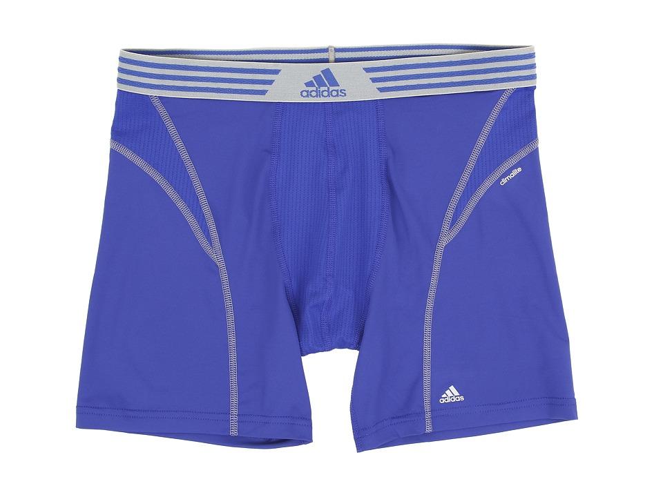 adidas - climalitetm Flex Boxer Brief (Bold Blue/Tech Grey) Men's Underwear