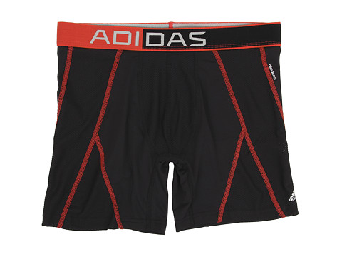 adidas - climacool Mesh Boxer Brief (Black/Bright Red) Men's Underwear