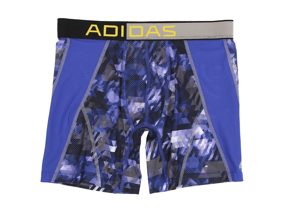 adidas - climacool Mesh Graphic Boxer Brief (Energy Camo Bold Blue/Tech Grey) Men's Underwear