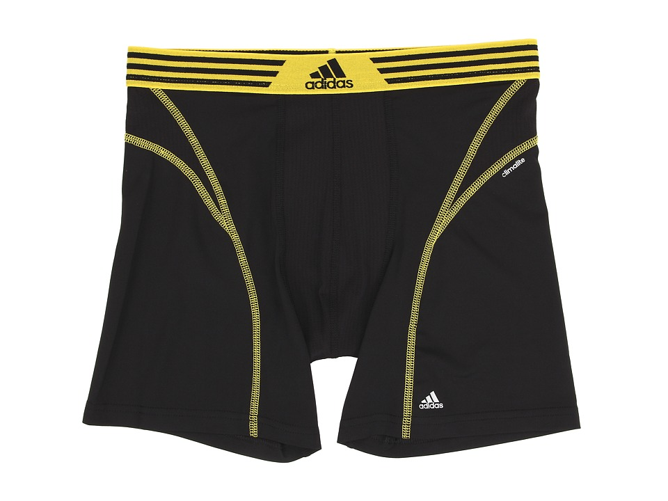 adidas - climalite Flex Boxer Brief (Black/Yellow) Men
