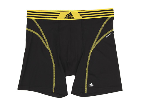 adidas - climalite Flex Boxer Brief (Black/Yellow) Men's Underwear
