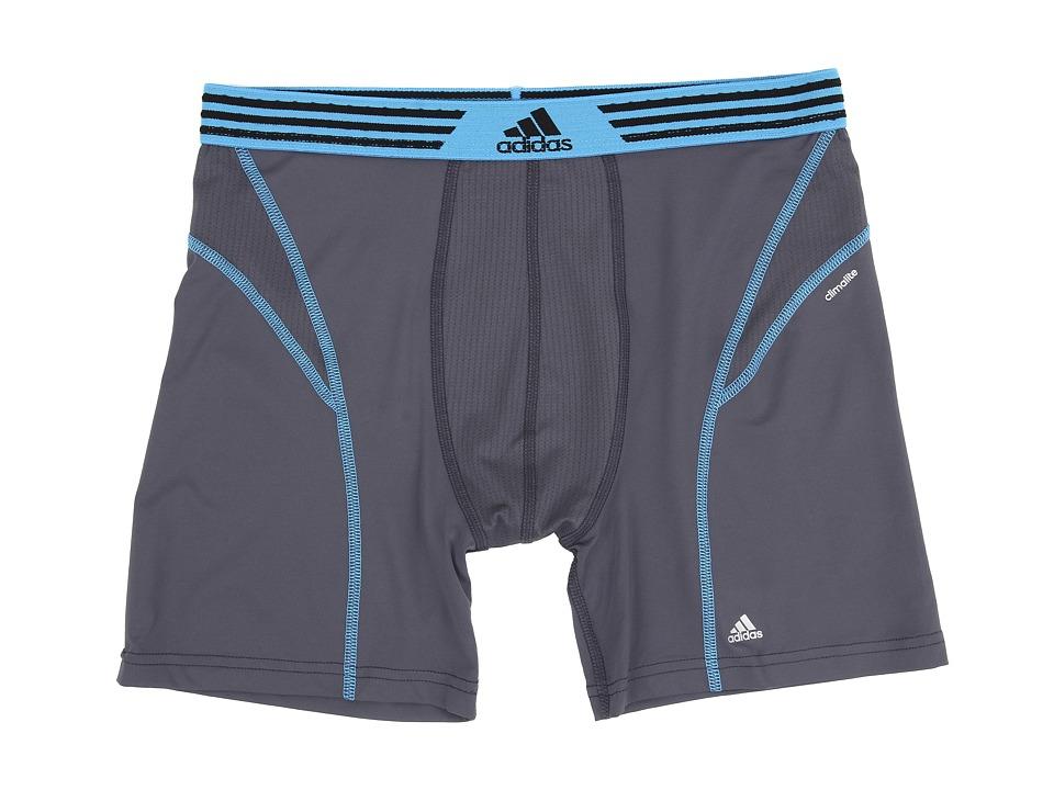 adidas - climalite Flex Boxer Brief (Deepest Space/Solar Blue) Men's Underwear