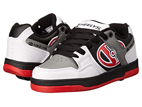 Heelys - Flow (Little Kid/Big Kid/Adult) (White/Black/Grey/Red) Boy
