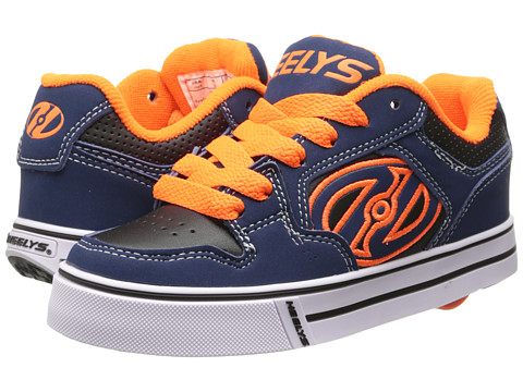 Heelys - Motion Plus (Little Kid/Big Kid/Adult) (Navy/Orange/White) Boy's Shoes
