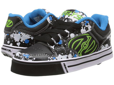Heelys - Motion Plus (Little Kid/Big Kid/Adult) (Black/White/Paint) Boy's Shoes
