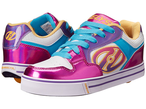 Heelys - Motion Plus (Little Kid/Big Kid/Adult) (White/Fuchsia/Multi) Girl's Shoes