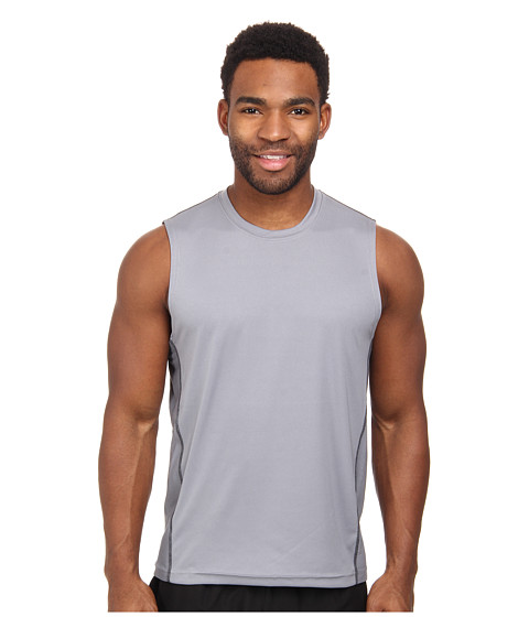 adidas - climacool Mesh Muscle (Tech Grey/Black) Men's Sleeveless