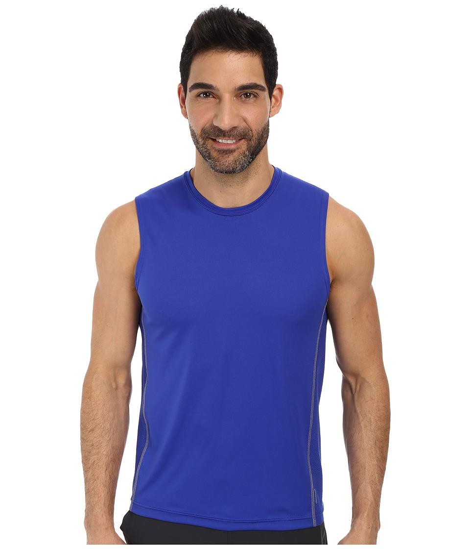 adidas - climacooltm Mesh Muscle (Bold Blue/Tech Grey) Men's Sleeveless
