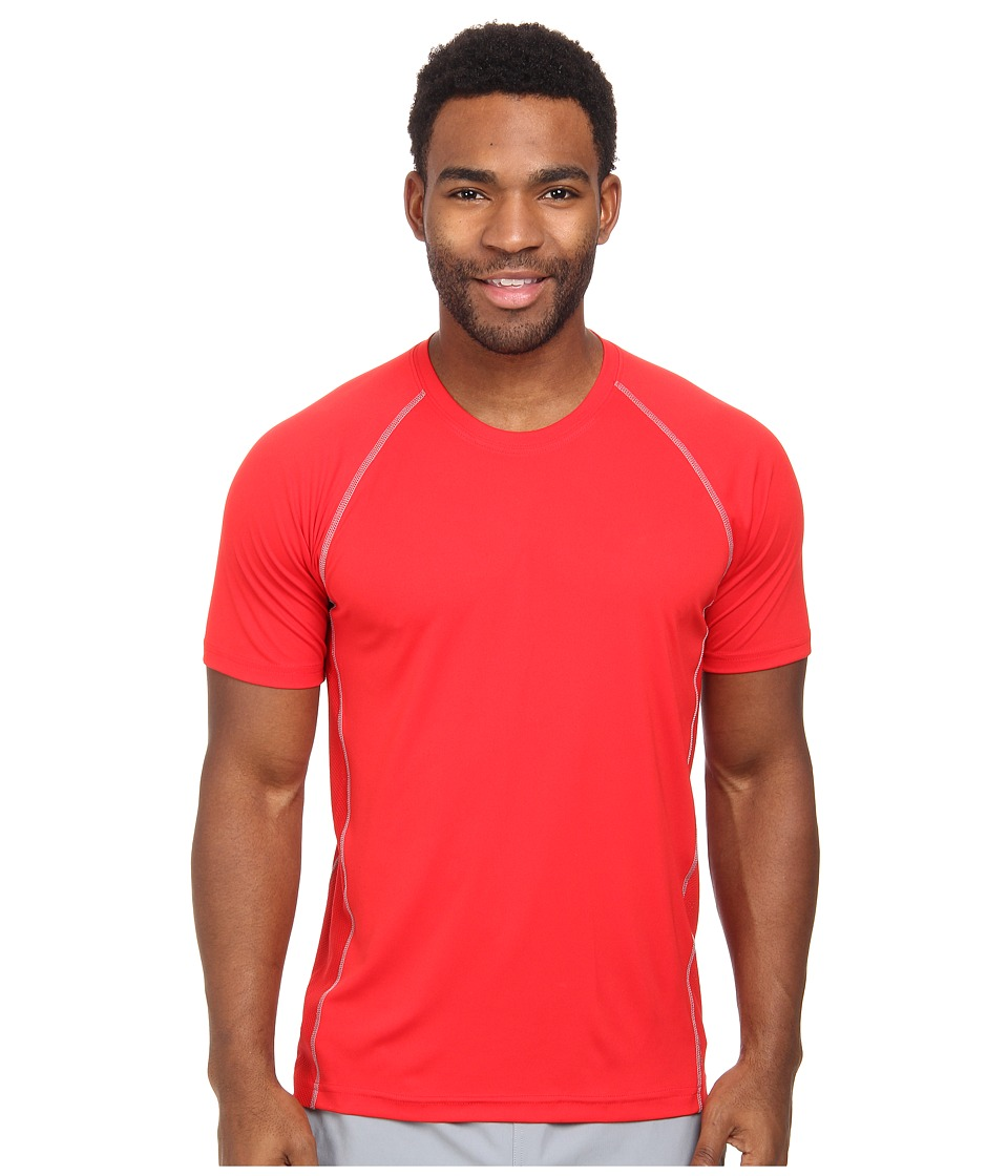adidas - climacool Mesh Crew (SLD Red/Tech Grey) Men's Short Sleeve Pullover