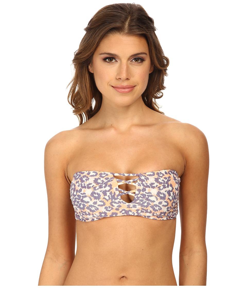 O'Neill - Leopard Daze Revo Bandeau Top (Multi) Women's Swimwear