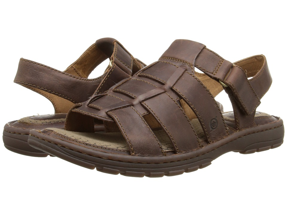 Born - Tobias (Mink (Brown Full-Grain Leather) Men's Sandals