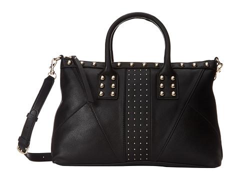 GUESS Journey Dizzy Satchel (Black) Satchel Handbags