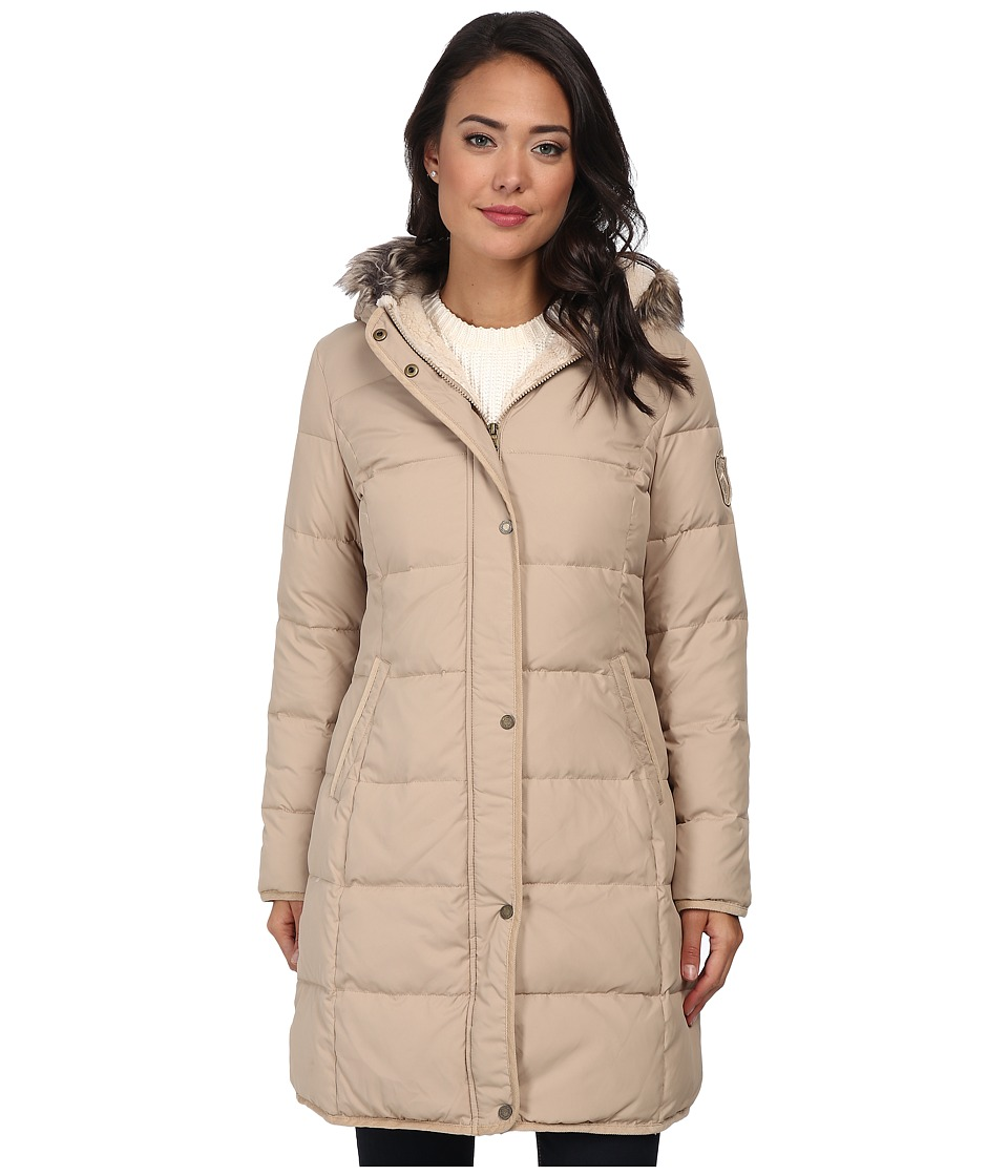 LAUREN by Ralph Lauren - Heavy Down w/ Corduroy and Berber Trim (Racing Khaki) Women