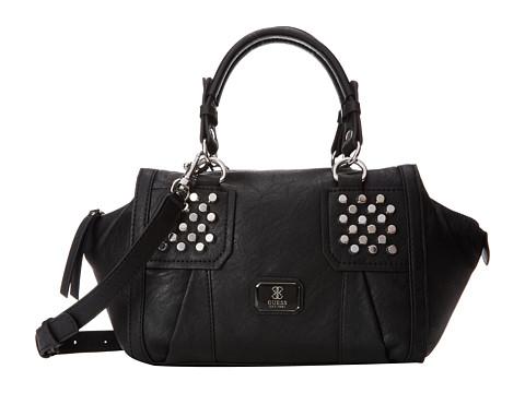 GUESS Rowena Small Satchel (Black) Satchel Handbags