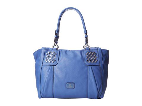 GUESS Rowena Large Satchel (Ocean) Satchel Handbags