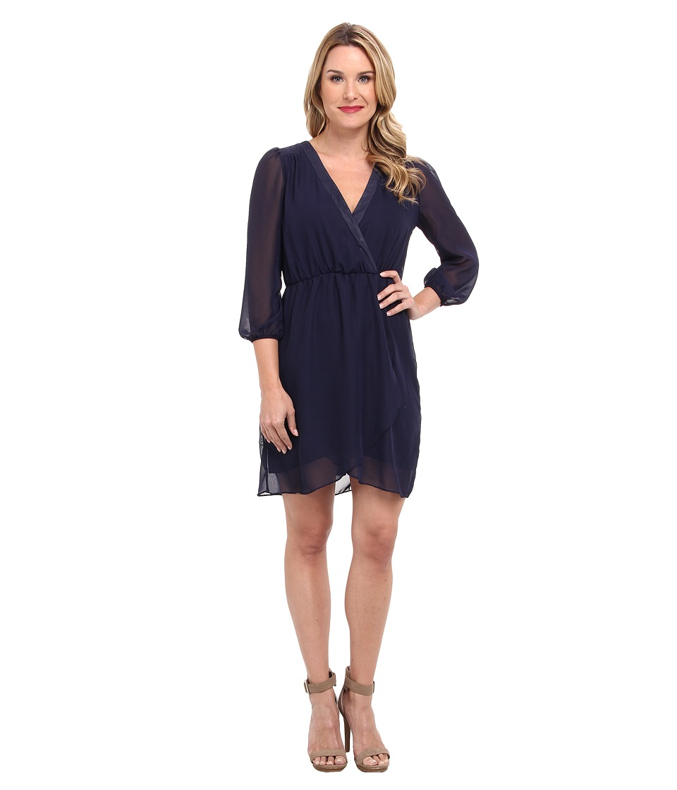 Christin Michaels Adalyn Wrap Dress (Navy) Women