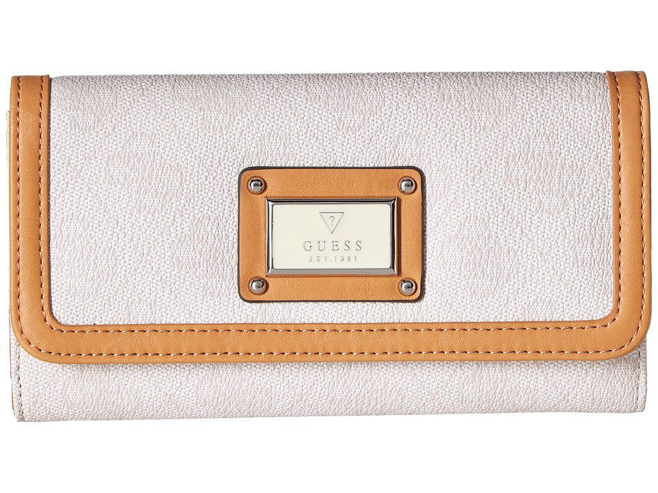 GUESS - Scandal SLG Slim Clutch (Cement) Clutch Handbags