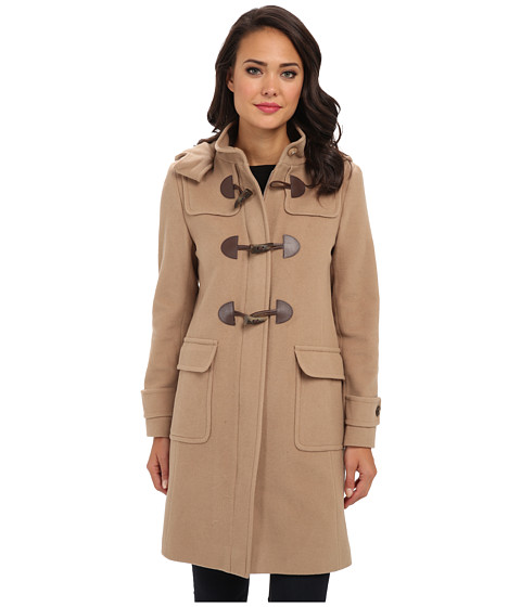 LAUREN by Ralph Lauren - Wool Stand Collar Duffle (Laurel Camel) Women's Coat