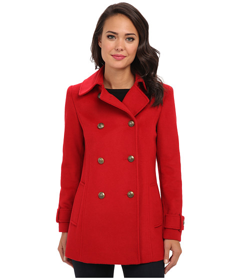 LAUREN by Ralph Lauren - Pea Coat (Heritage Red) Women