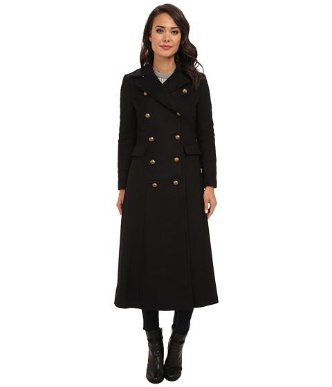 LAUREN by Ralph Lauren - Military Maxi (Black) Women's Coat
