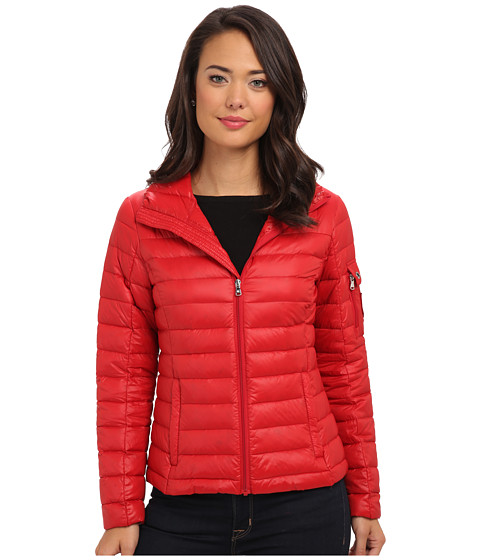 LAUREN by Ralph Lauren - Soft Down Packable Shirt Tail (Heritage Red) Women's Coat