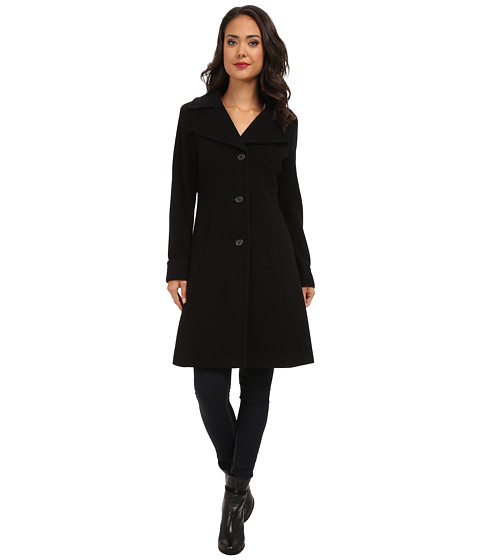 LAUREN by Ralph Lauren - Cashmere Blend Fit and Flare (Black) Women