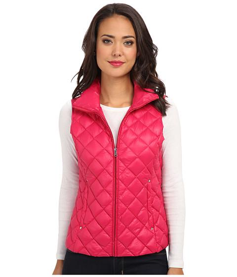 LAUREN by Ralph Lauren - Diamond Quilted Packable Vest (Sabrina Pink) Women