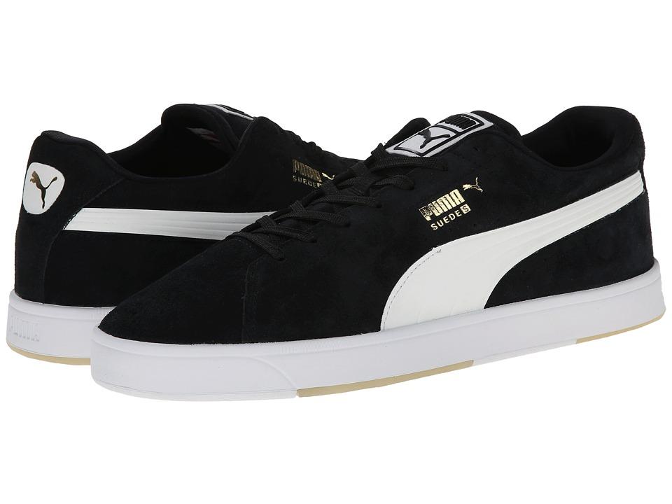 PUMA - Suede Skate (Black/White) Men's Shoes