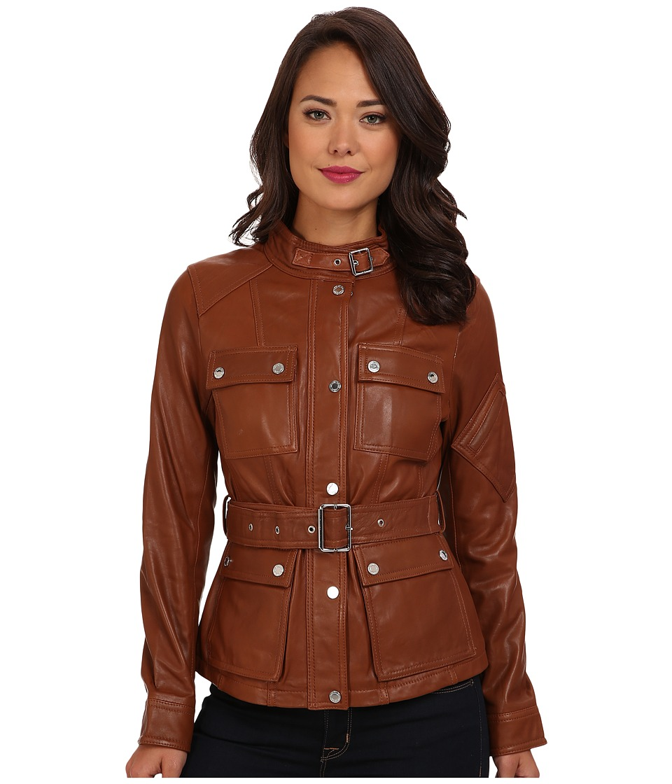 LAUREN by Ralph Lauren - Monza Leather Jacket (Fall Cuoio) Women's Coat