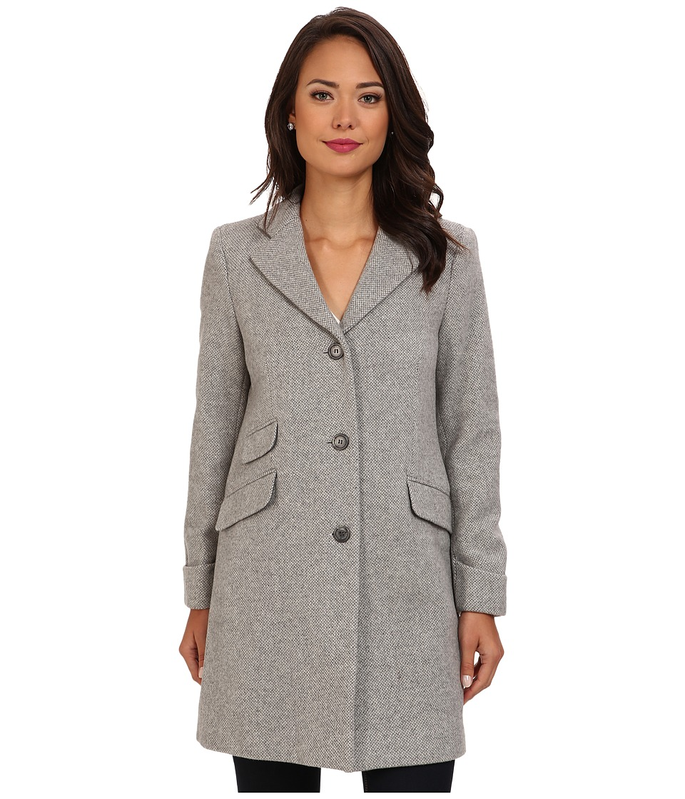 LAUREN Ralph Lauren - Russian Twill Reefer (Grey) Women's Coat