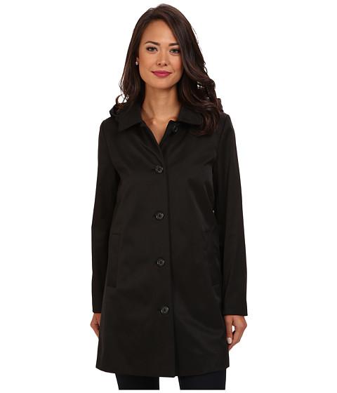 LAUREN by Ralph Lauren - Hooded A-Line Rain Coat w/ Removable Warmer (Black) Women's Coat
