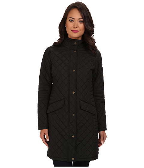 LAUREN by Ralph Lauren - 3/4 Quilt w/ Pleater Trim (Black) Women