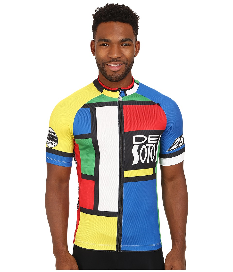 De Soto - Skin Cooler Bike Jersey (Mondrian Color) Men's Clothing