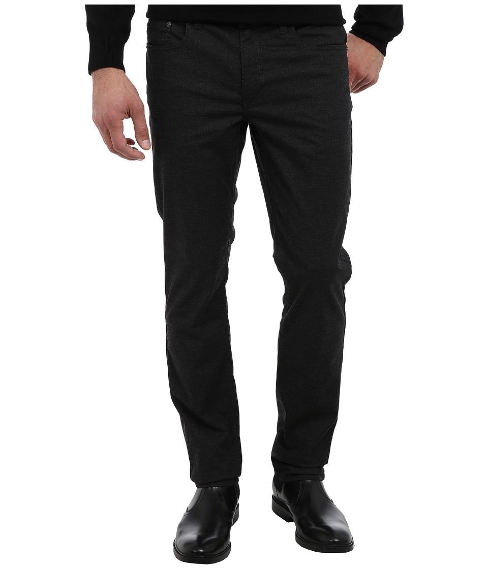 Kenneth Cole Sportswear - Slim Five-Pocket (Charcoal Heather) Men's Casual Pants