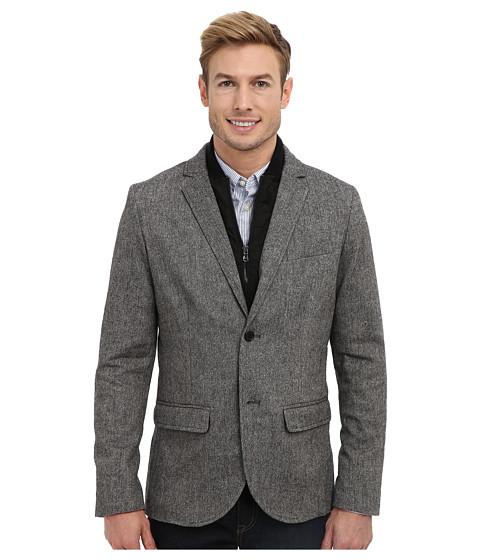 Kenneth Cole Sportswear - Slim Bib Blazer (Carbon Combo) Men's Jacket