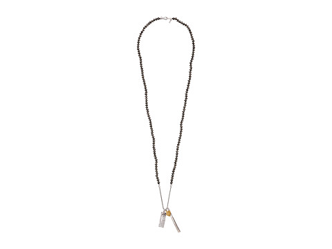 Chan Luu - 36'Pyrite Necklace with Charms (Pyrite) Necklace