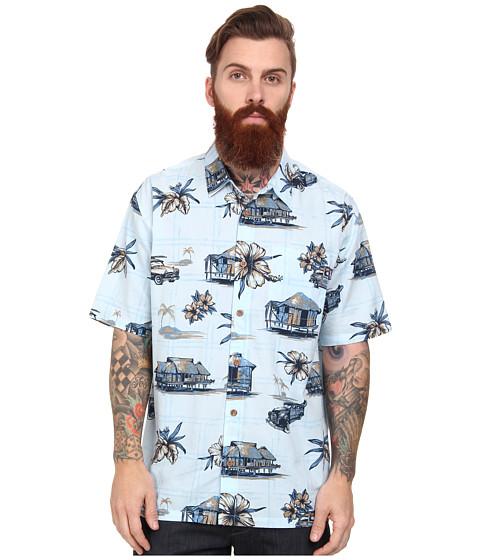 O'Neill - Palisades Wovens (Light Blue) Men's Short Sleeve Button Up