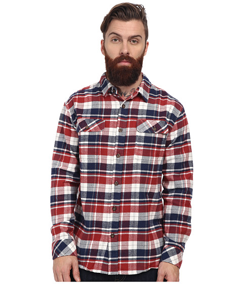 O'Neill - Indo Wovens (Red Brick) Men's Long Sleeve Button Up