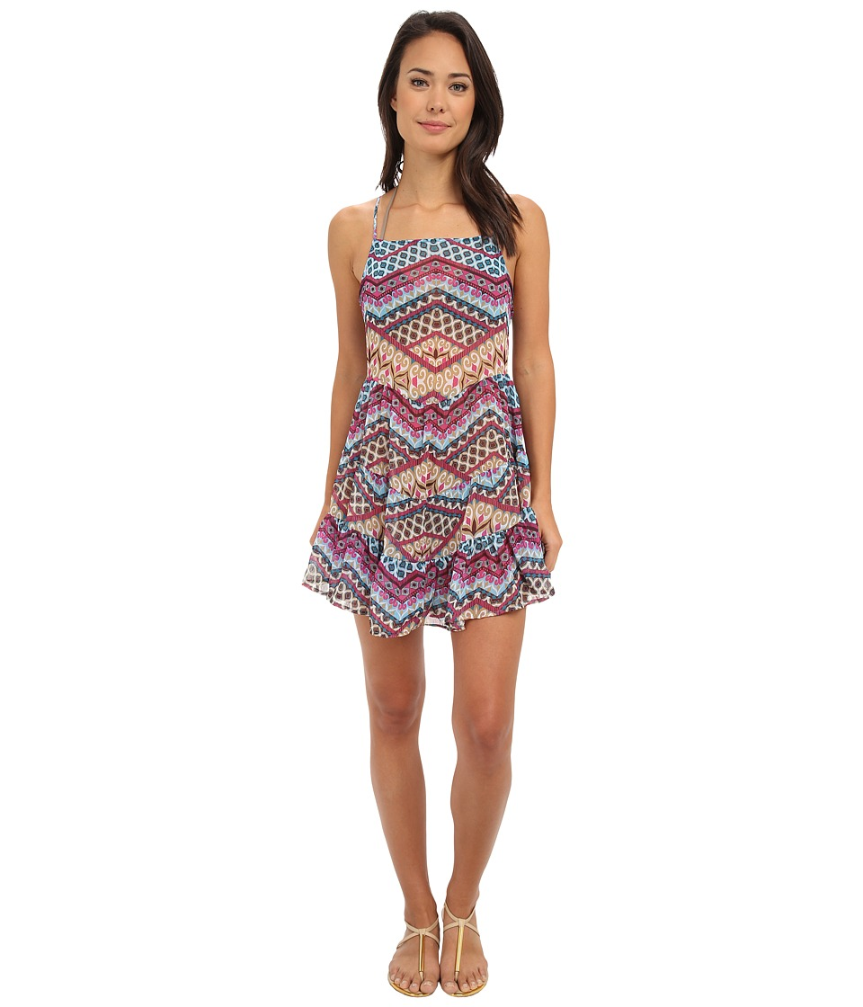 BECCA by Rebecca Virtue - Borrowed from the Boys Dress Cover-Up (Teal) Women's Swimwear